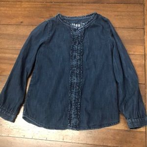 Gap Kids Denim Shirt girls size 5